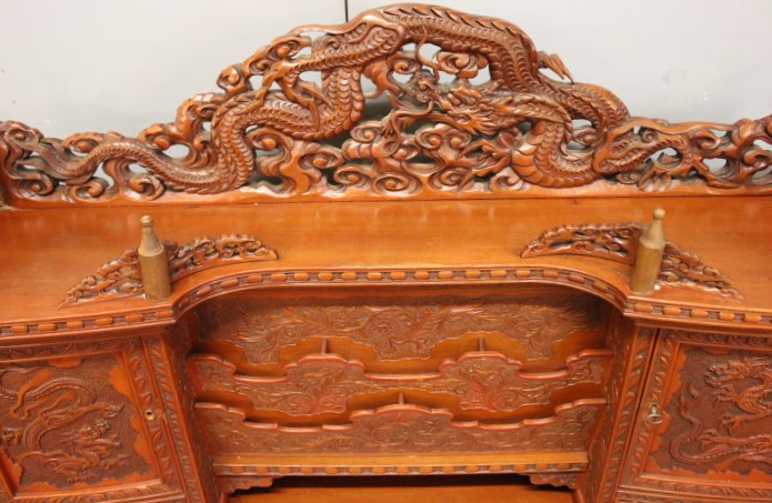 Chinese Houten Bed : Oude chinese houtsnijwerk etsy
