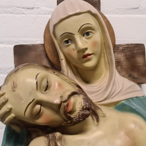 Gispen beeld Maria met Jezus. Hoogte 33