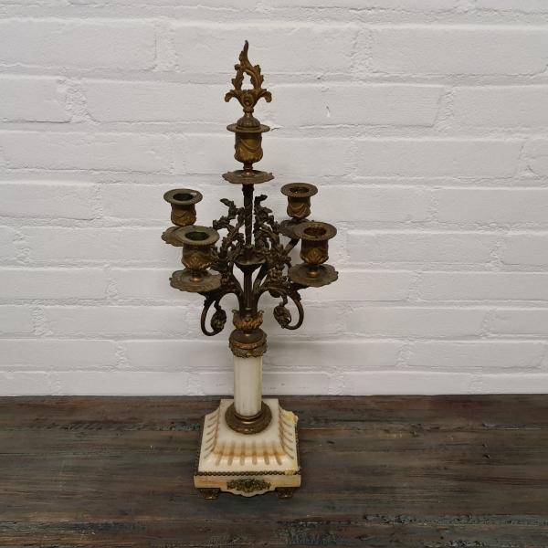 Frans 5-lichts kandelaber, ca. 1900. Hoogte 53 cm