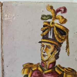hand geschilderde Spaans keramische tegelplaquette. 42 x 28