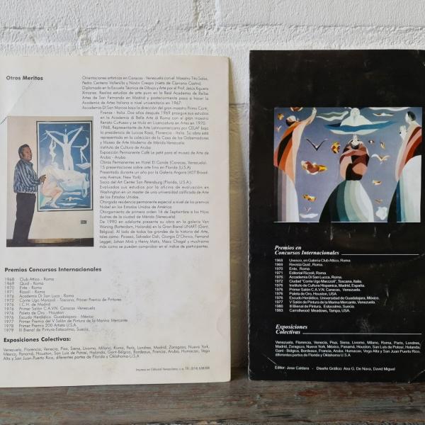 doek, 48 x 38, metafysische surrealisme, gesigneerd Salas Davila (1988)