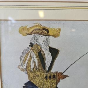 Gemengde techniek op papier van aquarel, pencil en goudverf. Leon Bakst. 43 x 33