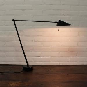 Hala wand/bureaulamp met glas venster, 70/80 er jaren