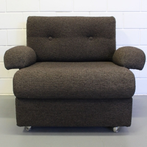 Wollen boucle designer fauteuil in fraaie staat, ca. 1980
