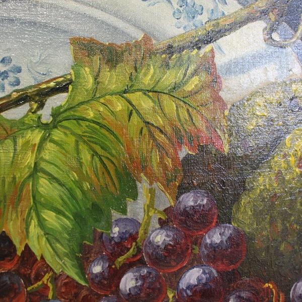 doek, 74 x 109, stilleven met fruit, gesigneerd A. Ditgens '19