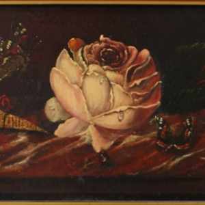 olieverf op koperplaat, 13 x 19, stilleven, gesigneerd H.J. Verhoef