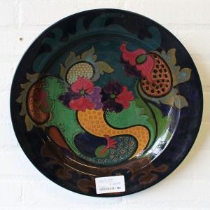 Gouds plateel aardewerk sierschotel, ca. 1920. diam. 36